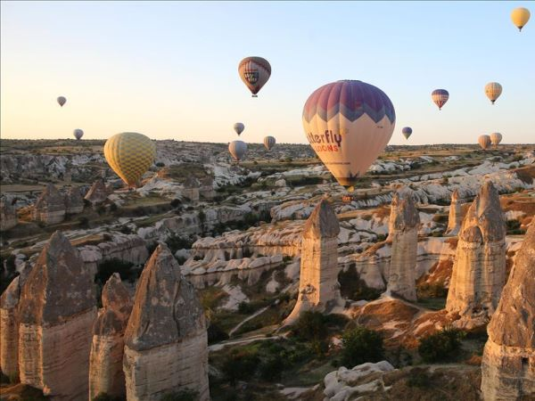 Tango marathons take place in many wonderful locations, such as the one in Cappadocia