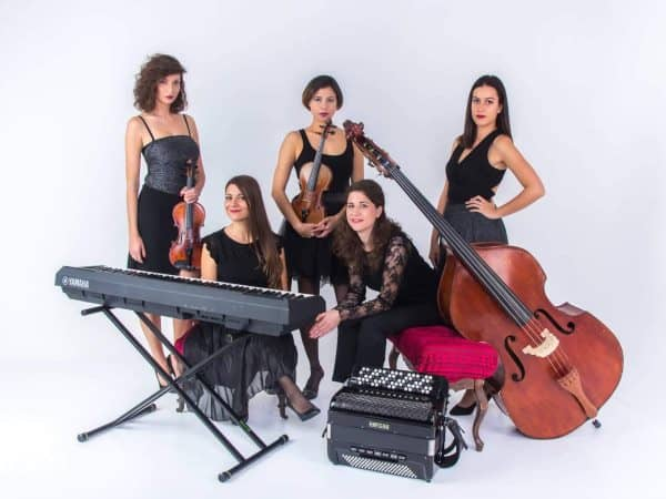 The Tanguango quinteto, a tango ensemble that plays music in festivals and milongas around the world