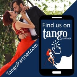 Andrea Dedo and Carla Bianchi offering advice on learning tango
